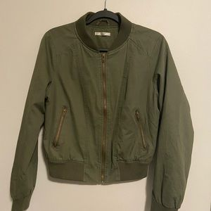New Olive Green Bomber Jacket Size Large